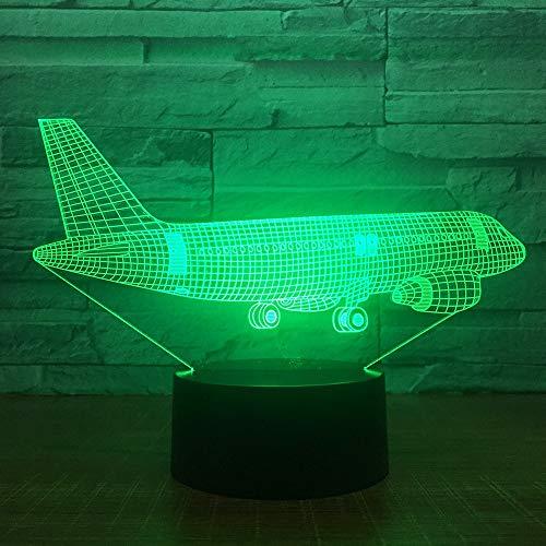 Aviones de Transporte Aéreo 3D 7 Lámparas de Color Luces Visuales de...