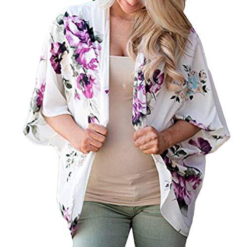 Luckycat Frauen Floral Cover Casual Bluse Tops lose Kimono Cardigan Capes Mode 2018 -