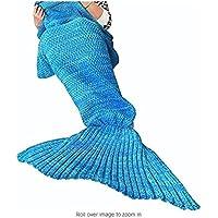 Lana Sirena Coperta a Coda a Forma di Sirena, Utilizzabile Come Coperta per Divano Letto, Adulti (180 * 90cm)