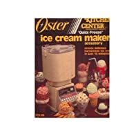 Vintage 1985 Oster Kitchen Center Quick Freeze Ice Cream Maker Accessory 770-06