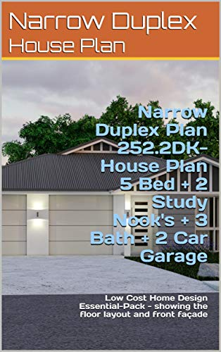 Surprising Narrow Duplex Plan 252 2Dk House Plan 5 Bed 2 Study Beutiful Home Inspiration Xortanetmahrainfo