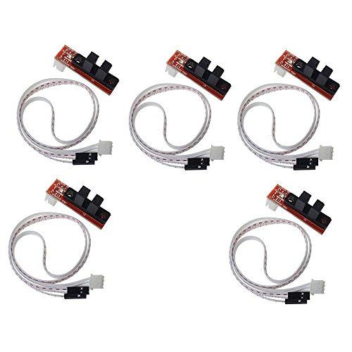 ARCELI 5 Stücke CNC 3D Drucker Mechanische Optische Endschalter Endstop mit Kabel für Rampen 1,4 Makerbot Prusa Mendel RepRap Mechanische Endschalter