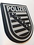 ATG Ärmelabzeichen Polizei Sachsen 3 D Rubber Patch (BlackOps)