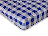Visco Therapy Economy Spring Rolled Mattress, Jersey, Blue, Small Double, 4 ft