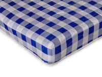 Visco Therapy Economy Spring Mattress, Jersey, Blue, Small Double, 4 ft