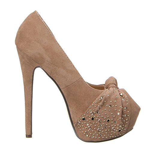 888–265 femme chaussures, escarpins femme Marron - Sable