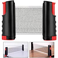 Weeygo Ping Pong Net, Portable and Retractable Table Tennis Nets, Adjustable Any Table Portable Travel Holder Indoor Outdoor Sports Accessories(Black)