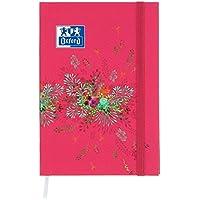 Oxford Flowers Agenda scolaire journalier 2018-2019 1 jour par page 352 pages 12 x 18 cm Fleurs fuchsia