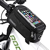 Fahrradtasche Rahmentaschen Wasserdicht, Eliteck Fahrrad Handy Tasche mit Handytasche (passend bis zu 5,7 Zoll) Radfahren Vorne Top Tube Rahmen Doppel Pouch für Mountain Bike