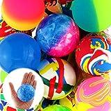 3x Flummi Gummiball Dopsball Groß XL ca.60mm Springball Motive Bunt Mitgebsel