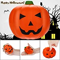 OHQ Juguetes Antiestres Squishies Scary Pumpkin Slow Lising Fruits Scented Stress Relief Halloween Juguete