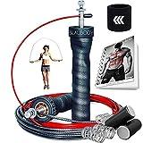 BODYROPE Corde à Sauter Boxe Pro Lestée Accessoire Adulte Enfant Kit Boxe Thai Kick...