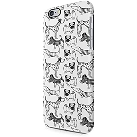 Cute Various Breed Dogs Pattern Apple iPhone 6 / iPhone 6s Snap-On Hard Plastic Protective Shell Case Cover