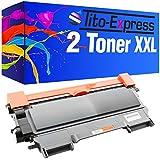 2 Toner-Patronen XXL PlatinumSerie Schwarz kompatibel für Brother TN-2010 HL-2130 HL-2132 ...