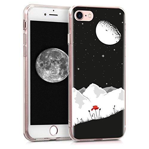 kwmobile Apple iPhone 7/8 Hülle - Handyhülle für Apple iPhone 7/8 - Handy Case in Weiß Rot Schwarz