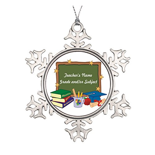 Daily Lady Personalisierbare Keramik-Weihnachtsdekoration für Lehrer, rund