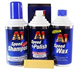 DR. WACK A1 Speed Polish Politur 500ml & Speed Wax Wachs 500ml & Shampoo 500ml