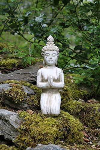 Estatua de Buda de piedra Drift Madera interiores y exteriores de jardín de efecto arrodillado figura