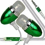 Blackview BV6000S - Premium Qualität aus Aluminium in Ear Ohrhörer Stereo Freisprecheinrichtung Kopfhörer In-ear -Kopfhörer Kopfhörer mit integriertem Mikrofon Mic & On-Off -Button (Green)
