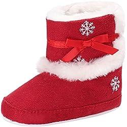 KISSION 2017 Natale Peluche Caldo Stivali Fiocco di Neve Stampa Soft Bottom Bambino Scarpe