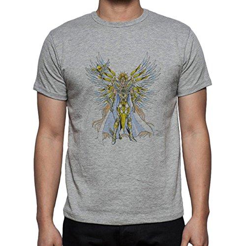 DigimonPatamon Angemon Angewoman Golden Herren T-Shirt Grau