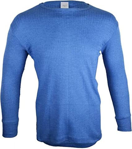 Mens Thermal Long Sleeve Top - Blue - Large