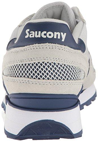 Sneaker Saucony Shadow in suede marrone e arancione Grey / Navy