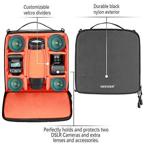 Neewer® Wasserdicht Stoßfest Flexible Partition Kamera Gepolsterte Tasche SLR DSLR einfügen Schutz Top Griff Tasche für spiegellose Kameras und Objektive, Blitzlicht, Radio-Auslöser, Akku und Ladegerät, Kabel und andere Kamera-Zubehör