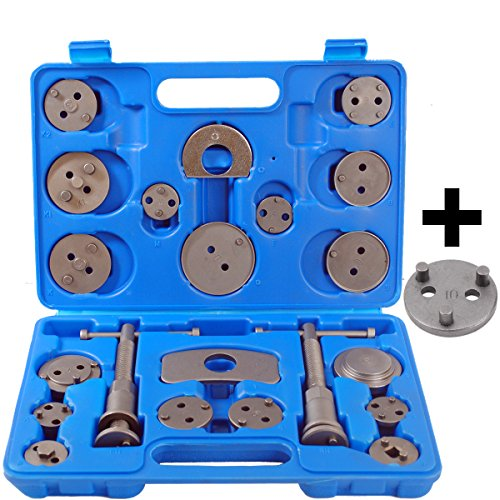 22 tlg Bremskolbenrücksteller Satz Bremskolben Rücksteller KFZ Werkzeug mit Nue VAG 3 Pin Adaptor Test