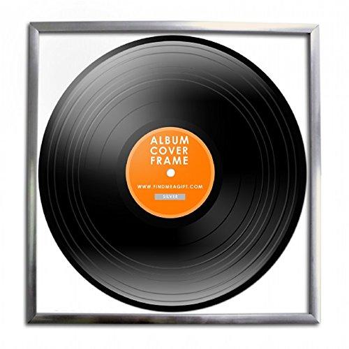 Retro vinyl LP record album Square Frame 30centimeter 30,5cm cover Sleeve Wall Art display-silver