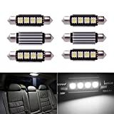 Inlink 6pcs Weiß Fehlerfrei Canbus 4SMD 5050 42 mm LED Auto LED Kennzeichenbeleuchtung Soffitte LED Umfeldbeleuchtung Soffittenlampe Soffitte Dome Lampe DC 12 V