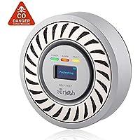 Detector de CO Alarma de monóxido de Carbono, Sensor electroquímico Batería de Litio Recargable CO Probador de Gas, USB Enchufe Monitor de CO con Pantalla OLED Digital para el hogar/Caravana (Gris)
