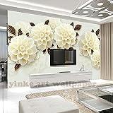 BZDHWWH 3D Wallpapers Benutzerdefinierte Europäischen Champagner Hortensien Malerei Design Hintergrund Schlafzimmer Wohnzimmer Wandmalereien Papel De Parede,160cm (H) x 240cm (W)