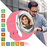 Montre Connectée Femmes Homme Enfant Smartwatch écran Tactile Rond Soutien Carte...