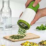 SMGI Stainless Steel Herb Mill Grinder Spice Mill Shredder Chopper Cutter Grinder Grater Slicer Food Processor Kitchen Tools (Green:White)