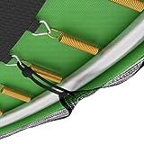 Ampel 24 Trampolin Sicherheitsnetz | Ersatznetz 305 cm für 8 Pfosten | UV-beständig | extrem reißfest | Netz außenliegend - 4