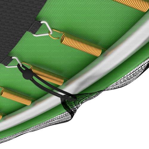Ampel 24 Trampolin Sicherheitsnetz | Ersatznetz 460 cm für 12 Pfosten | UV-beständig | extrem reißfest | Netz außenliegend - 4