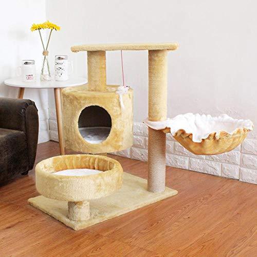 saczxra Katze Klettern Kratzen Wurf Spielzeug Springen Haus Villa Springen Katzenbedarf Katzenfenster Hängematte Kätzchen Betten Zwinger Regal@Style9_L -