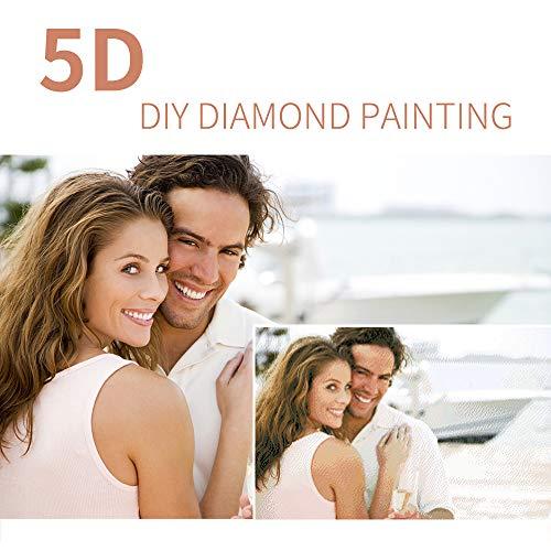 Personalizado Foto Personalizada 5D Diamante Kits de pintura, bricolaje cuadrado/ronda completa taladro bordado de cristal dibujo para la decoración de la pared del hogar, ronda completa