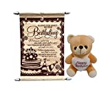 Gift For Girls - Happy Birthday Teddy Wi...