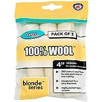 """Blonde 100% Wool Mini Roller 4"""" 3 Pack -"""