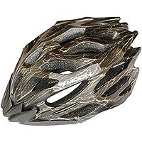 Luna Sport MTB di ciclismo su strada del casco 27 adulti Vents leggero Caschi CE EN1078 Certificazioni PC + Nero EPS con oro vene regolabile