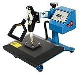 RICOO Transferpresse Power Zwerg-AZ Druckfläche: 23x30cm Textildruckpresse Textilpresse Transfer Presse Thermopresse T-Shirtpresse Sublimationspresse geeignet für Flexfolie und Flockfolie || Shirt bedrucken günstig || Farbe: Azurblau