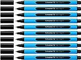 Schneider Slider Edge F Kugelschreiber (Kappenmodell) 10er Packung cyan-schwarz
