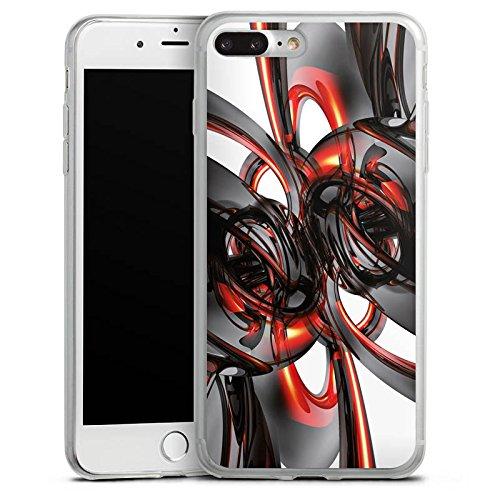 Apple iPhone 8 Slim Case Silikon Hülle Schutzhülle Strudel Lack Glanz Silikon Slim Case transparent