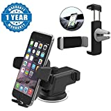 Captcha Silicone Suction Cup Base Car Windshield Phone Holder With Car Air Vent Universal Mount Holder Stand Compatible With Xiaomi, Lenovo, Apple, Samsung, Sony, Oppo, Gionee, Vivo Smartphones (One Year Warranty)