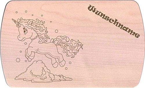 Farbklecks-Collection Frühstücksbrettchen - Winter Einhorn 4