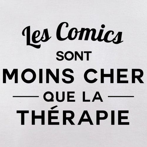 Les comics sont moins cher que la thérapie - Femme T-Shirt - 14 couleur Blanc