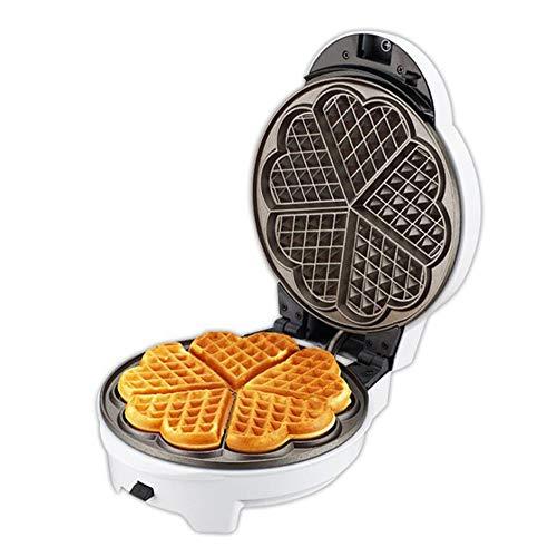 Waffle maker con piastre estraibili casalinghi multifunzione ciambella cupcake pizza maker colazione fornello,white,1245