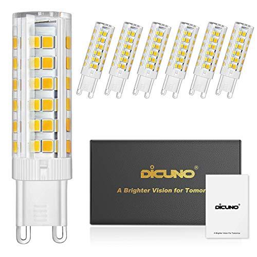 DiCUNO G9 Bombilla LED 6W 60W Bombilla Halógena Equivalente